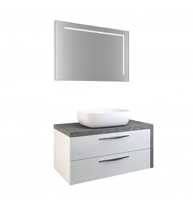 Zeta 90 garnitura viseća - ploča grigio - slim box